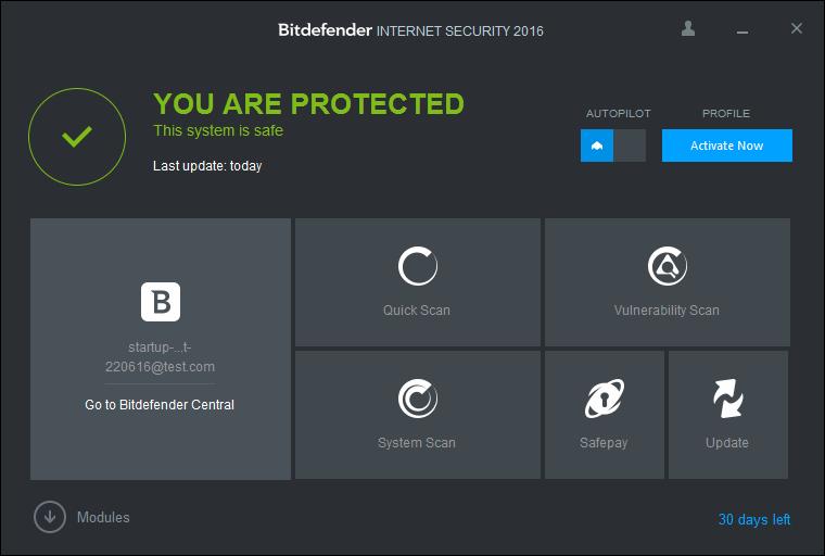best antivirus bitdefender total security installed 220616