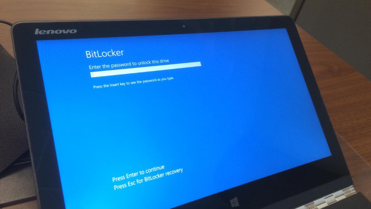 windows 10 upgrade bitlocker