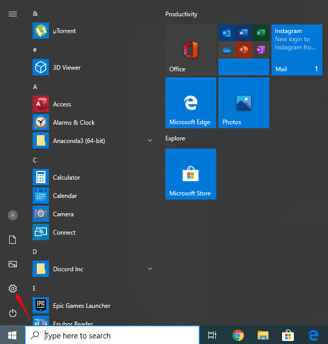 Disable Windows Defender Start Menu Open Settings