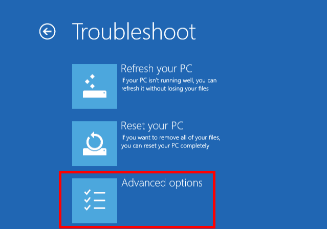 Windows 10 Safe Mode - Advanced Option