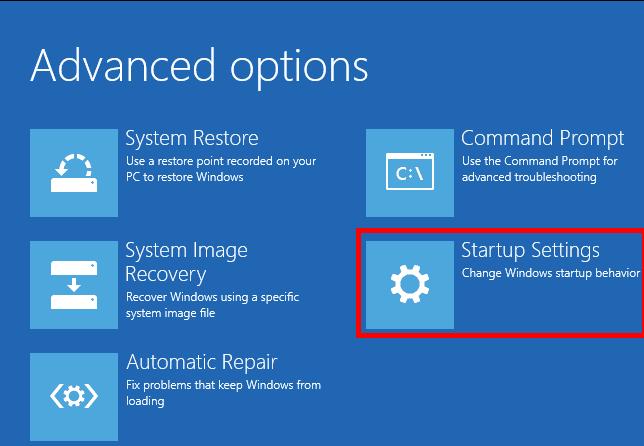 Windows 10 Safe Mode - Startup Settings
