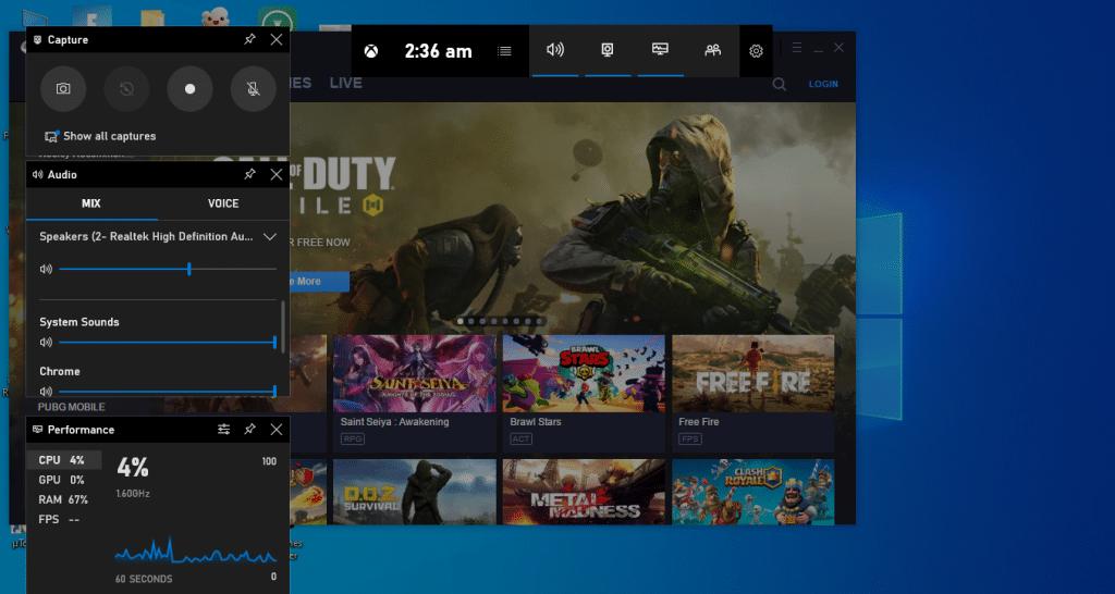 take a screenshot by Game bar - step 2