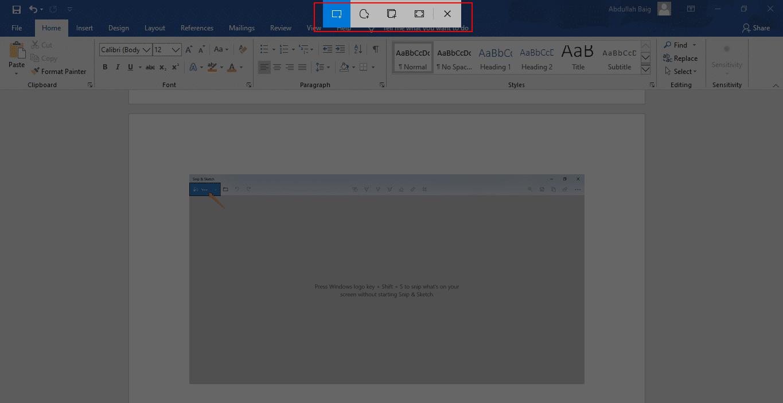 How to take screenshots on windows
