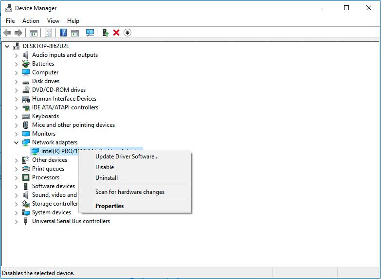 update ethernet driver software