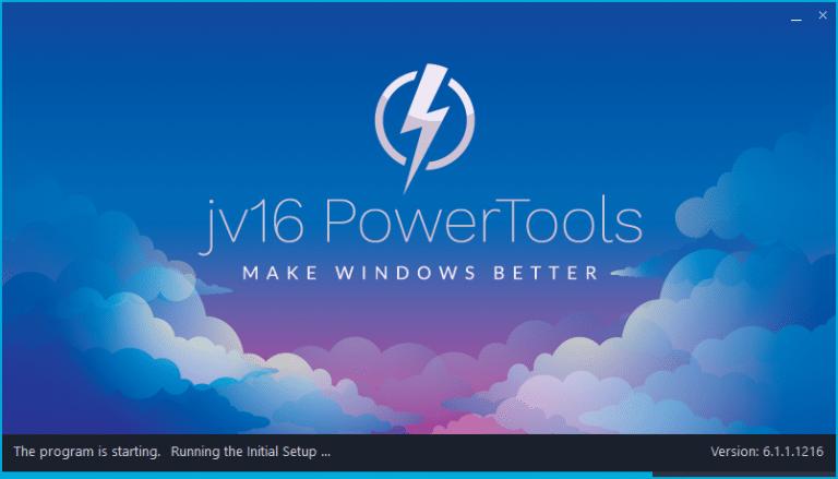 jv16 version 6.1.1.1216 Initial setup