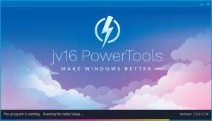 jv16 PowerTools Setup Screen Version 7-0-0-1274