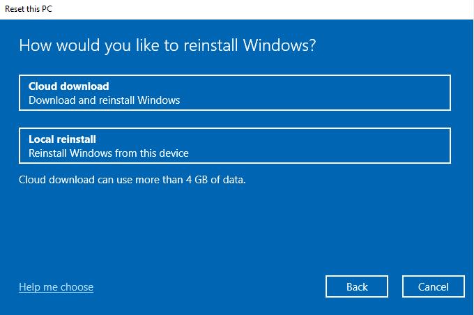 Reinstall Windows after factory reset Windows 10
